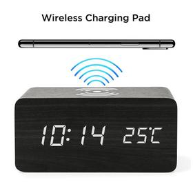 Wooden Alarm Clock - Qi Wir