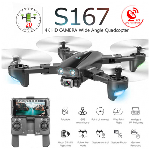 TOYS SKY S167 PROFESSIONAL DRONE WITH CAMERA 4K 5G GPS WIFI 1080P