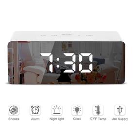 LED Mirror Alarm Clock Digi
