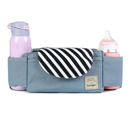 Baby Stroller Accessories Cart Bottle Bag Organizer Waterproof Blue