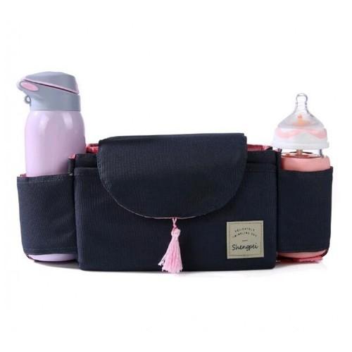 Baby Stroller Accessories Cart Bottle Bag Organizer Waterproof Dark Grey