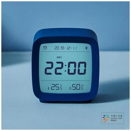 XIAOMI QINGPING CGD1 Digital Clock Humidity Temperature Display Blue