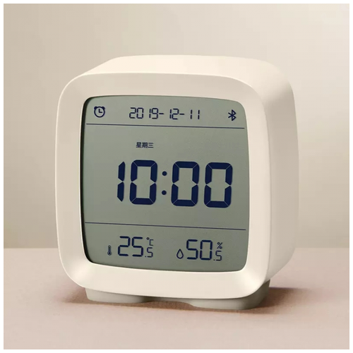 XIAOMI QINGPING CGD1 Digital Clock Humidity Temperature Display White