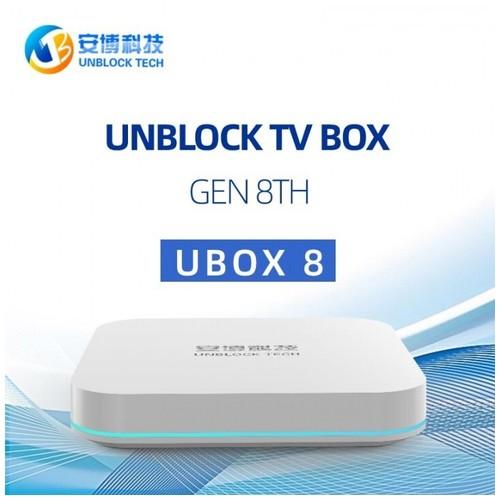 UNBLOCK TECH UBOX 8 PRO MAX - Android 10.0 TV Box - RAM 4GB ROM 64GB