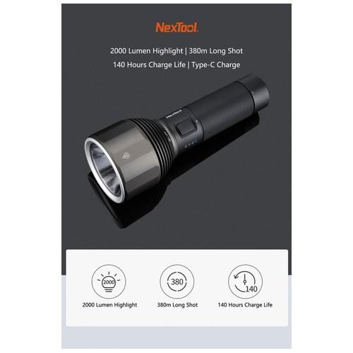 XIAOMI NEXTOOL Rechargeable IPX7 Flashlight 2000 Lumens - ZES0417