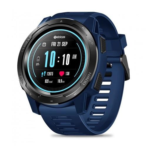 ZEBLAZE VIBE 5 HR Sport SmartWatch Waterproof IP67 Heart Rate Monitor Blue