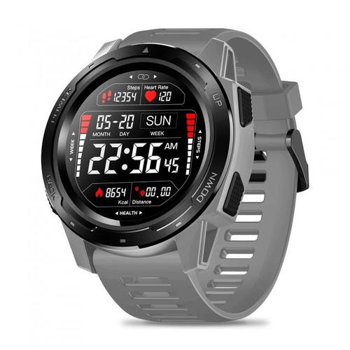 ZEBLAZE VIBE 5 HR Sport SmartWatch Waterproof IP67 Heart Rate Monitor Grey
