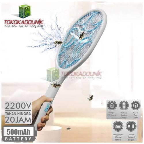 Raket Nyamuk LUBY 3826A Rechargeble Tahan 20 Jam + Lampu LED