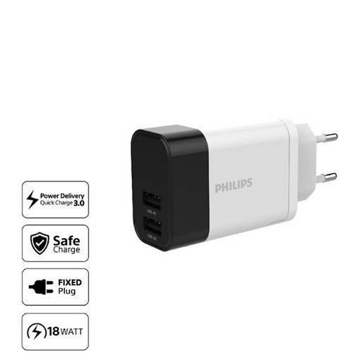 Philips DLP 4320NS-TR Quick Charge Adaptor / Charger - White