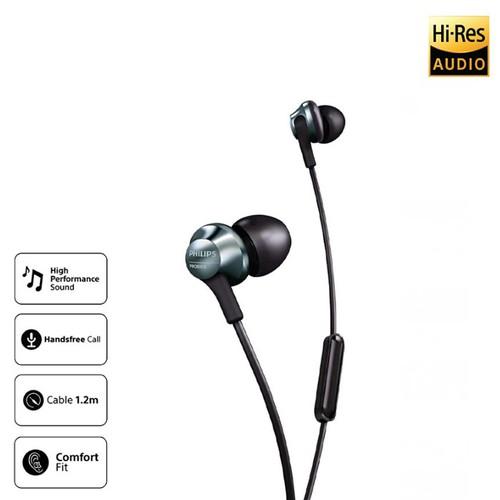 Philips Hires Audio Earphone With Mic PRO6105BK - Black