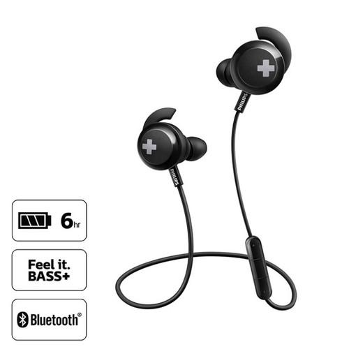 Philips BASS+ Wireless Bluetooth Earphone SHB4305BK - Black