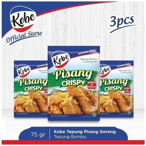 Kobe Tepung Pisang Goreng Crispy 75gr (3pcs)