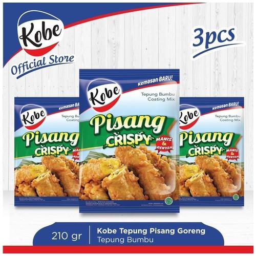 Kobe Tepung Pisang Goreng Crispy 210gr (3pcs)