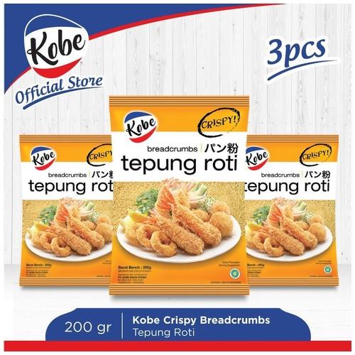 Tepung Roti Kobe Crispy Breadcrumbs - Tepung Panir Putih 200gr x 3pcs