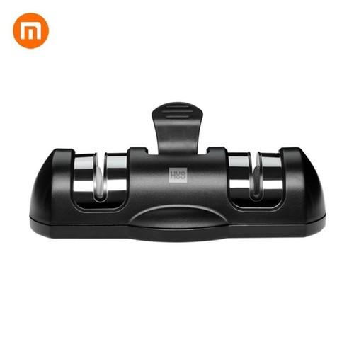 Xiaomi Huohou Pengasah Pisau Knife Sharpener Whetstone 2 Stage - HU0045 - Black