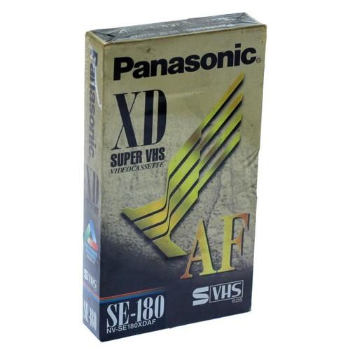 Kaset SVHS Panasonic NV-SE180 XDAF Video Cassette / Kaset Video SVHS 180 Menit