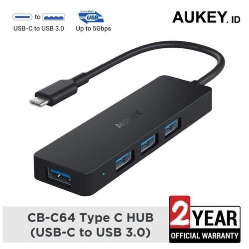 AUKEY CB-C64 - Unity Slim USB-C Hub Adapter To 4 USB 3.0 Ports