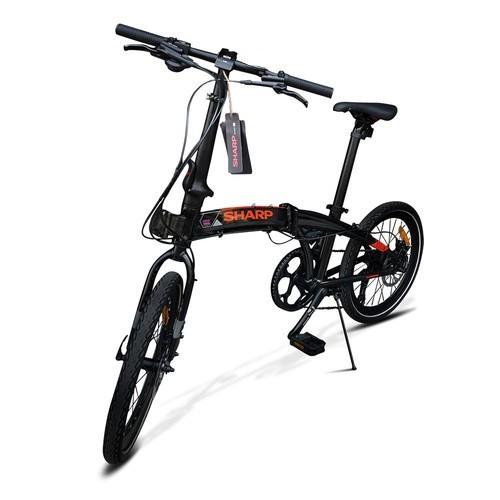 Sharp Sepeda lipat 20 inch 8 Speed Alloy Seli Folding Bike BC-01FB - Black