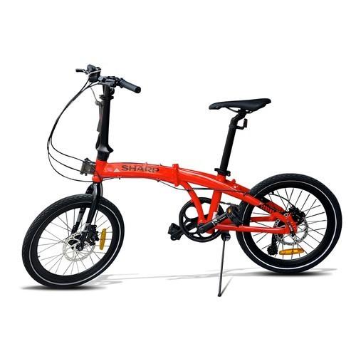 Sharp Sepeda Lipat 20 inch 8 Speed Alloy Seli Folding Bike BC-01FB - Red
