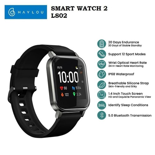 HAYLOU Smart Watch 2 - LS02 - IP68 Smart Watch with Heart Rate Monitor