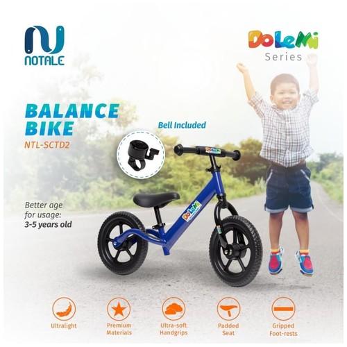 Notale Dolemi Premium Ultralight Balance Kick Bike Sepeda Anak - Merah Muda