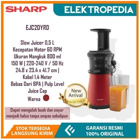 Sharp - Slow Juicer 0.8 Lit