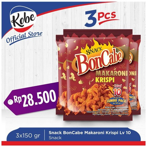 Kobe Snack Boncabe Makaroni Krispi Level 10 3pcs