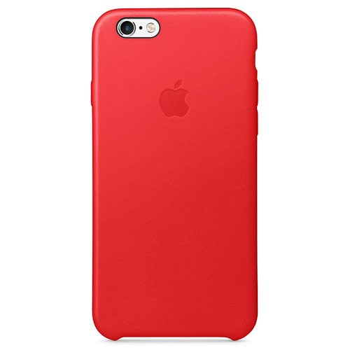 Apple Leather Case for iPhone 6S Plus - Red