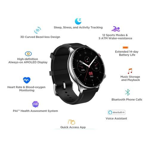 Amazfit GTR 2 Smartwatch - Obsidian Black/Classic Edition