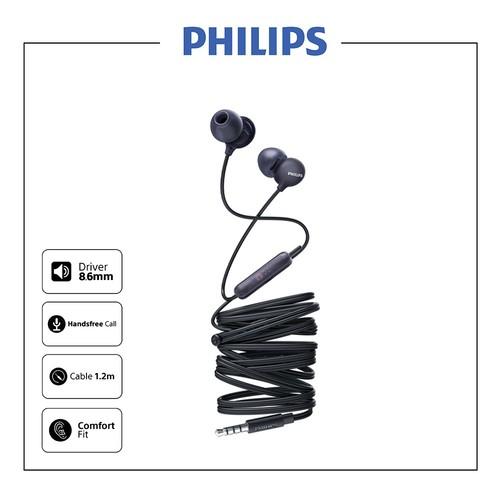 Philips UpBeat In-ear Earphone with mic SHE 2405 BK - Black