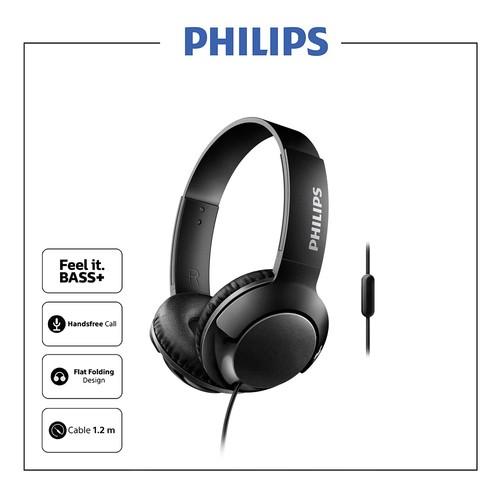 Philips Headphone Bass Plus with Mic SHL 3075 BK - Black