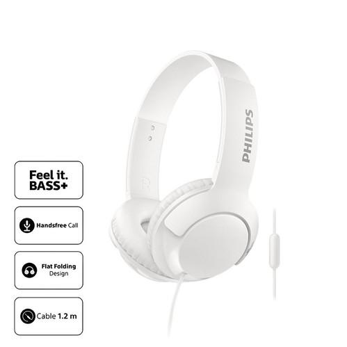 Philips Headphone Bass Plus with Mic SHL 3075 WT - White