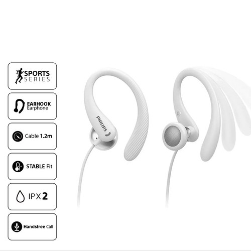 Philips In-ear sports headphones with mic TAA1105WT - White