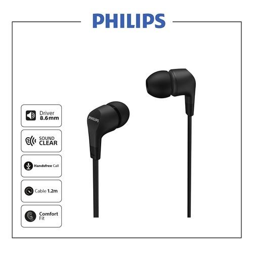 Philips In-ear wired headphones TAE1105BK - Black