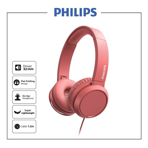 Philips On ear headphones TAH4105RD - Red