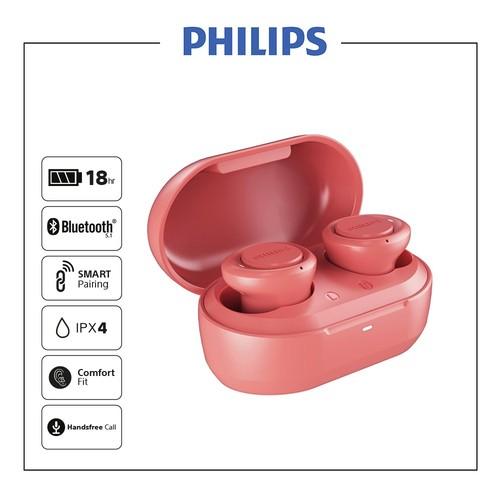 Philips In-Ear True Wireless Headphones TAT1215RD - Red