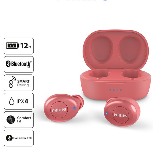 Philips In-ear True Wireless Headphones TAT2205RD - Red