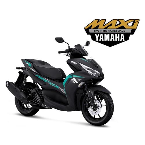 Yamaha All New Aerox 155 Connected Version - Matte Black Cyan (Jakarta)
