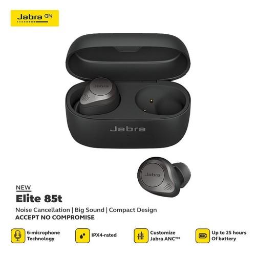 Jabra Elite 85t Advanced Noise Cancelling Earbuds -Titanium Black