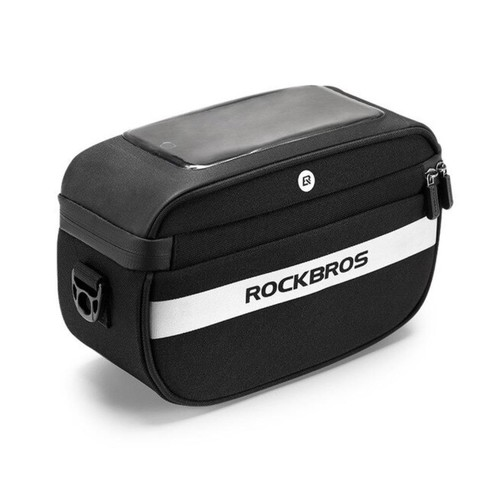 ROCKBROS B27 Bicycle Front Handlebar 2 in 1 Bag TPU Touch Screen