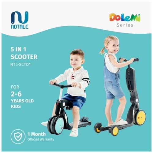 Notale Dolemi Series 5 in 1 Multifunctional Scooter Kids Sepeda Lipat