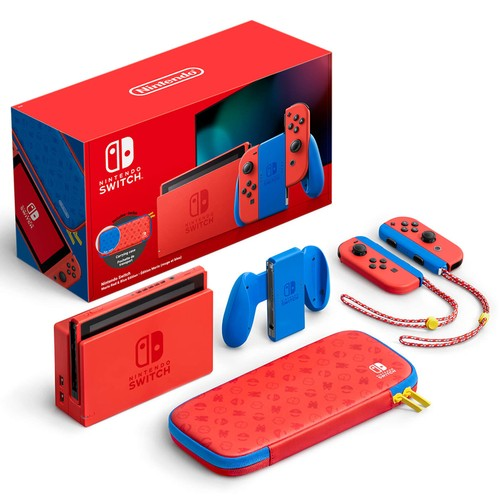 Nintendo Switch V2 New Console Mario Red & Blue Edition