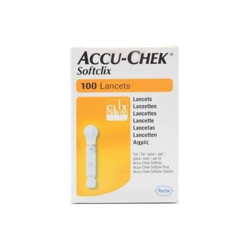 Accu Chek Softclix Lancet 100