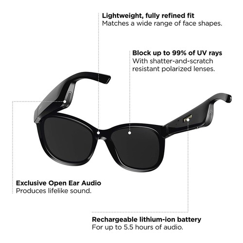 Bose Frames Soprano Bluetooth Audio Sunglasses (MMPRA0112) - Black