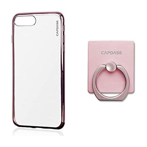 Capdase Original Soft Jacket Verge Clear for iPhone 7 - Rose Gold - SJIH7-VE04