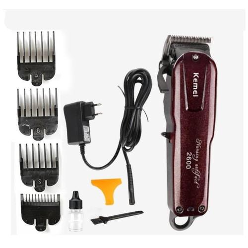 Hair Clipper Kemei KM-2600 Cordless Electric Alat Cukur Rambut KM2600 Original