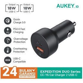 Charger Mobil Aukey CC-Y6 U