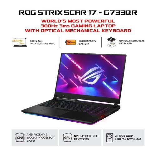 ASUS ROG Strix Scar 17 G733QR-R937D6T-O - Black