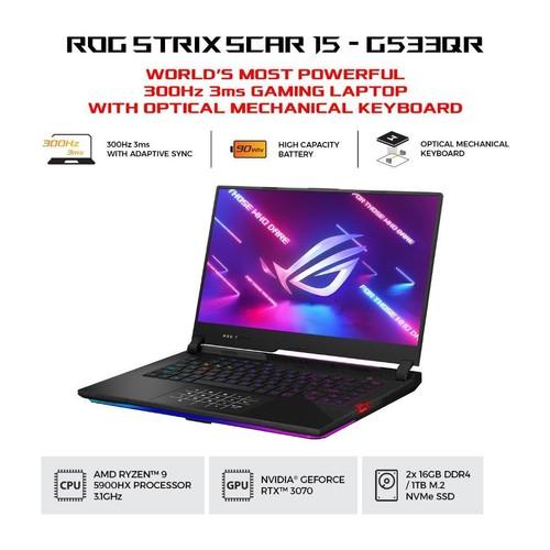 ASUS ROG Strix Scar 15 G533QR-R937D6T-O - Black