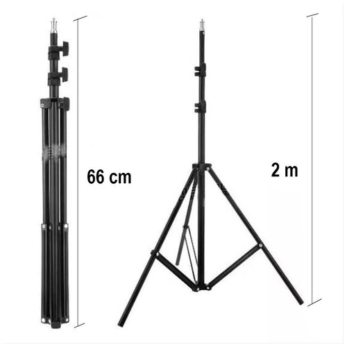 Portable Tripod Light Stand 2m Foldable
